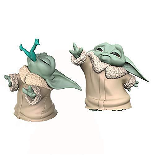 Star Wars The Bounty Collection The Child 5,5 cm großer The Mandalorian Baby Yoda, mit Frosch-Snack und Macht-Pose, Figuren 2er-Pack