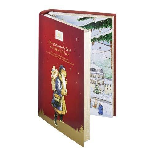 Lauensteiner Adventskalender Buch350 g handgefertigte Trüffel und Pralinen, 24fach sortiert - mit und ohne Alkohol.Ideales Geschenk für Männer und Frauen, 1er Pack