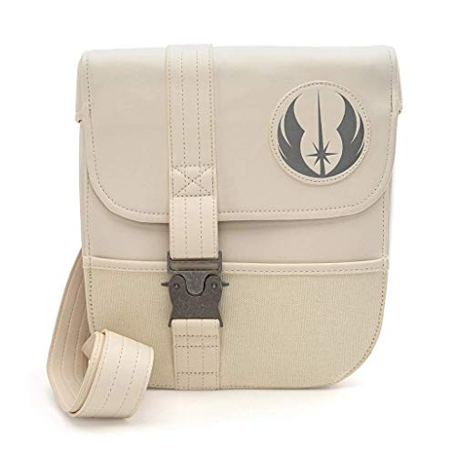 Loungefly x Star Wars Episode IX: Rise of Skywalker Rey Cosplay Schultertasche, (elfenbeinfarben), Medium