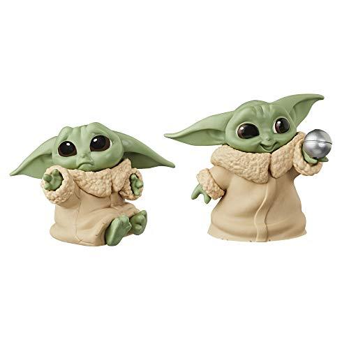 Star Wars The Bounty Collection The Child Baby Yoda, mit Schmuse-Pose und Ball, 5,5 cm. große Figuren, 2er-Pack