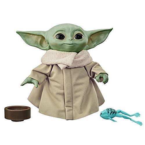 Star Wars The Child sprechende Plüsch-Figur mit Sounds und Accessoires, The Mandalorian Spielzeug, Baby Yoda 19 cm Groß