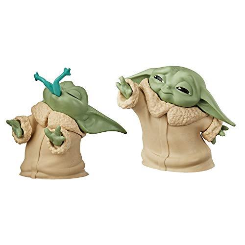 Star Wars The Bounty Collection The Child Baby Yoda, mit Frosch-Snack und Macht-Pose, 5,5 cm. große Figuren, 2er-Pack