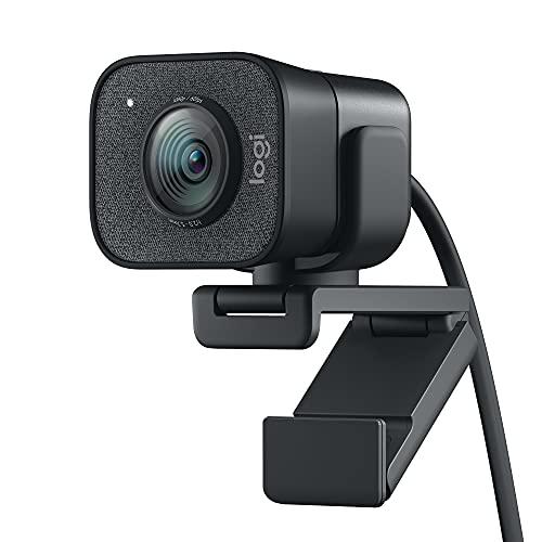 Logitech StreamCam - Livestream-Webcam für Youtube und Twitch, Full HD 1080p, 60 FPS, USB-C Anschluss, Gesichtserkennung durch Künstliche Intelligenz, Autofokus, vertikales Video - Dunkelgrau
