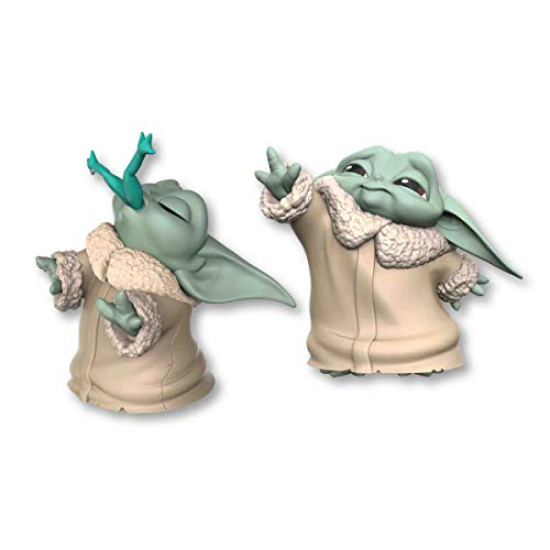Star Wars The Bounty Collection The Child Baby Yoda, mit Frosch-Snack und Macht-Pose, 5,5 cm. große Figuren, 2er-Pack
