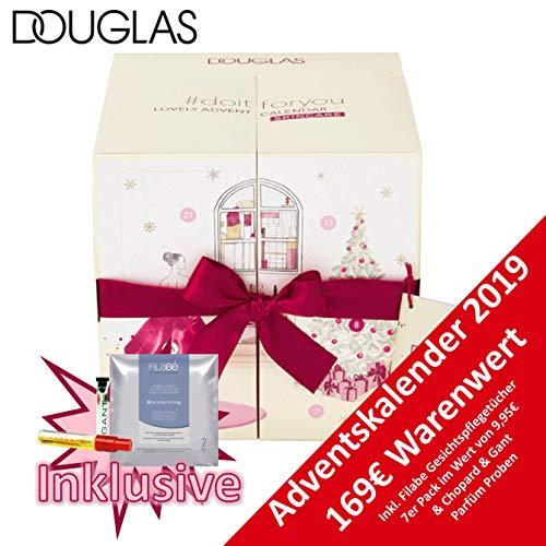 Douglas Pflege Adventskalender Lovely 2019 - idealer Advent Kalender für die Frau, Beautykalender im Wert von 129 €, Kosmetikkalender mit 24 Produkten für Damen, Shampoo, Handcreme, Duschgel