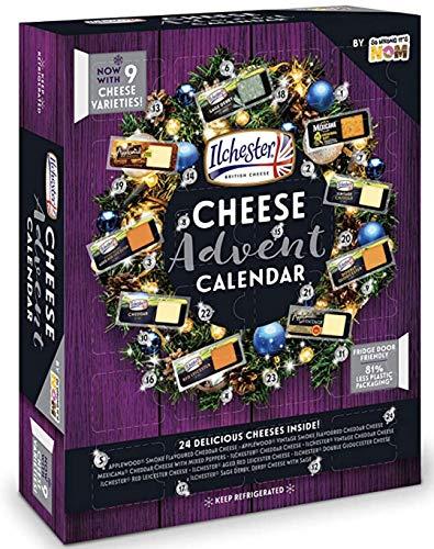 Ilchester Käse Adventskalender – 24 einzeln verpackte Käse – Der erste & einzige Käse Advent