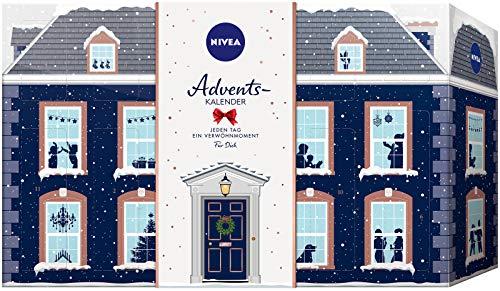 NIVEA Adventskalender 2019 für 24 Verwöhnmomente, Weihnachtskalender mit ausgewählten Pflegeprodukten, Pflegeset für die Adventszeit