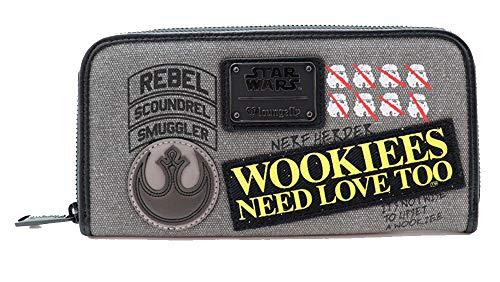 Loungefly X Star Wars Rebel Wookie Patch Zip around Wallet One Size multi