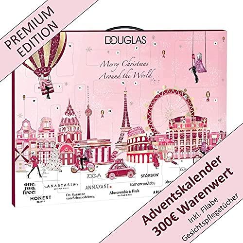 DOUGLAS Adventskalender 2021 Beauty -Premium EDITION- Frauen + Mädchen Kosmetik Advent Kalender , 24 Kosmetik Geschenke Wert 300 €, Pflege Frau, Adventkalender Damen