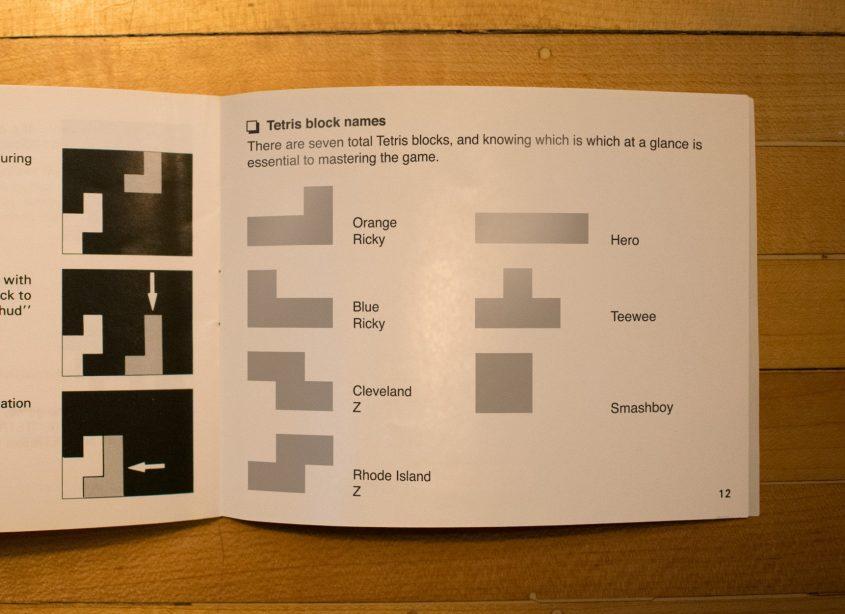 Tetris Block Namen