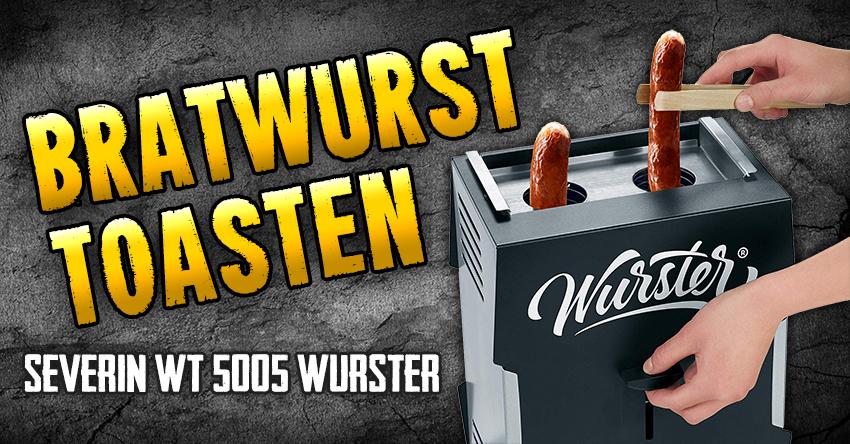 Bratwurst toasten mit dem Wurst-Toaster