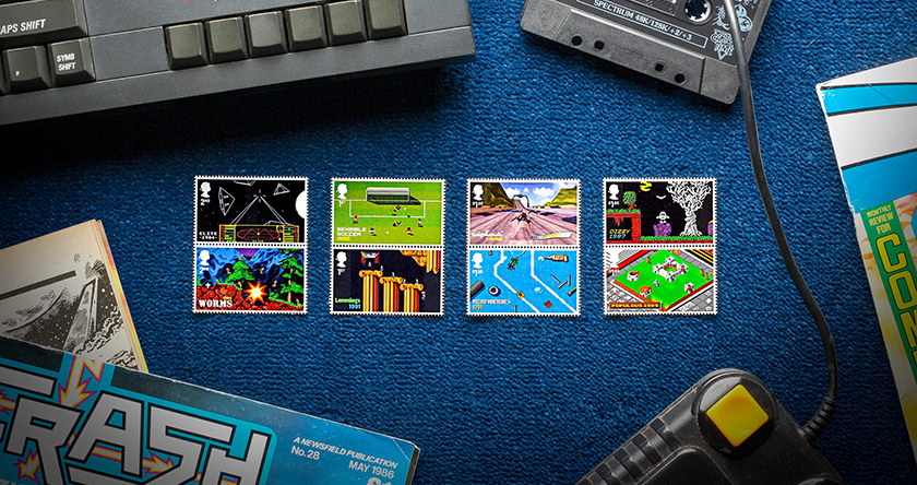 Videospiel Briefmarken 80er und 90er