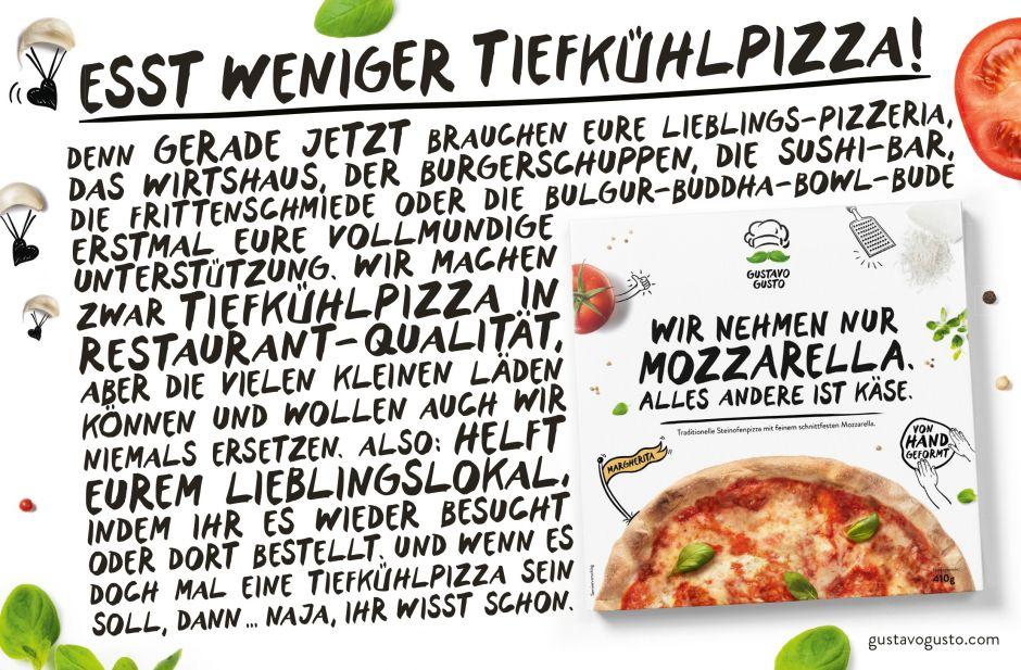 Esst weniger Tiefkühlpizza