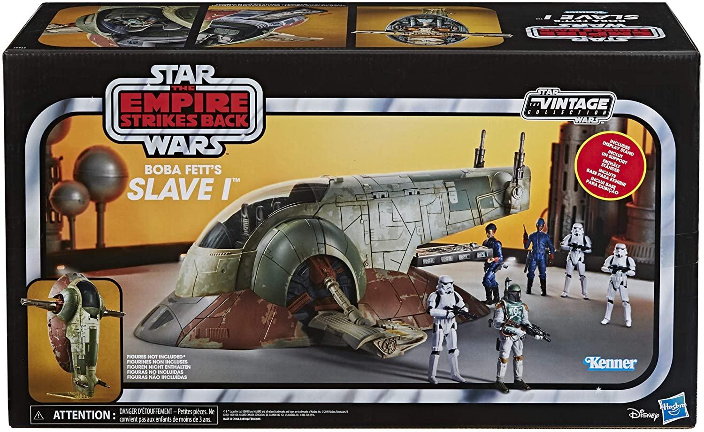 Die Slave 1 - Das kultige Raumschiff von Jango und Boba Fett. Neu aufgelegt von Hasbro in der Star Wars Vintage Collection